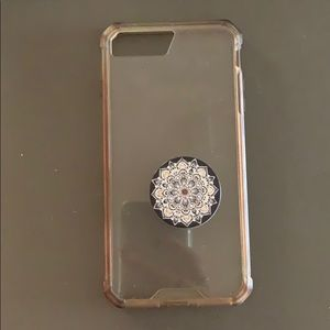 IPhone 8 Plus Phone Case W/ Pop socket